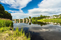 River Dee and Bridge of Dee Aberdeen Scotland