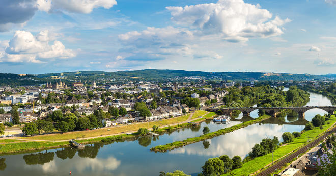 Panoramic view of Trier